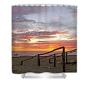 Sunset At Las Glorias Over Sea Of Cortez-sinaloa Shower Curtain