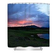 Sunset At Locke's Pond - Big Horn Mountains - Buffalo Wyoming Shower Curtain