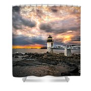 Sunset At Marshall Point Shower Curtain