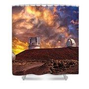 Sunset At Mauna Kea Summit Shower Curtain