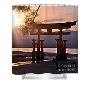 Sunset At Miyajima Shower Curtain