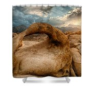 Sunset At Mobius Arch Shower Curtain
