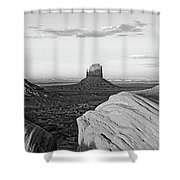 Sunset At Monument Valley, Monument Shower Curtain