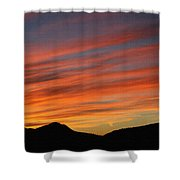 Sunset At Mt. Ord Shower Curtain