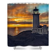 Sunset At North Head Shower Curtain by Robert Bales