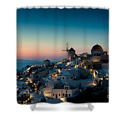 Sunset At Oia Shower Curtain
