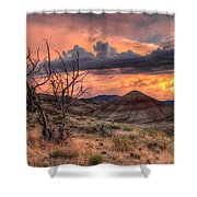 Sunset At Painted Hills In Oregon Shower Curtain