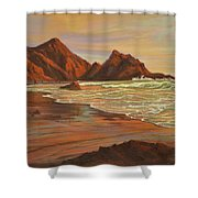 Sunset At Pfeiffer Beach Shower Curtain