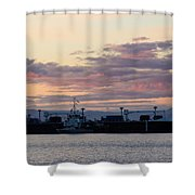 Sunset At Port Angeles Shower Curtain
