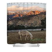 Sunset At Rancho Oso Shower Curtain