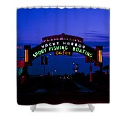Sunset At Santa Monica Beach Pier Fine Art Photography Print Shower Curtain