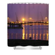 Sunset At Southampton Docks Shower Curtain
