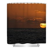 Sunset At St Ives Shower Curtain