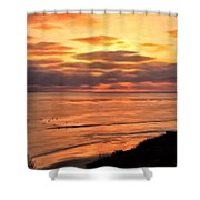 Sunset At Swami's Encinitas Shower Curtain