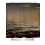 Sunset At The Beach Panorama Shower Curtain