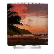 Sunset At The Beach - Puerto Lopez - Ecuador Shower Curtain