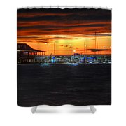 Sunset At The Fairhope Pier Shower Curtain