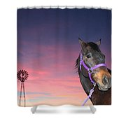 Sunset At The Farm Shower Curtain