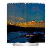 Sunset At The Green Bridge Shower Curtain