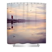 Sunset At The Hollering Place Shower Curtain
