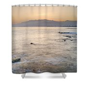 Sunset At The Hot Sea Shower Curtain