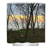 Sunset At The Island Shower Curtain