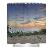 Sunset At The Mediterranean Shower Curtain