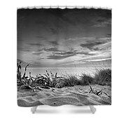 Sunset At The Mediterranean Sea Shower Curtain