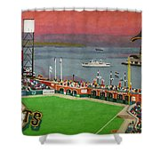 Sunset At The Park Shower Curtain by Cory Still