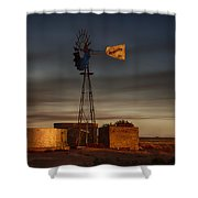 Sunset At The Well Shower Curtain