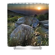 Sunset At The Windy Mountains Shower Curtain