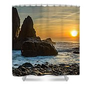 Sunset At The World's End II Shower Curtain