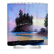Sunset At Tongue Point Shower Curtain
