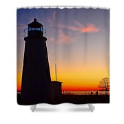 Turkey Point At Sunset Shower Curtain