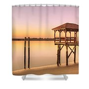 Sunset At Tybee Shower Curtain