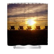 Sunset At Venice Beach Shower Curtain