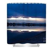 Sunset At Windsor Lake Shower Curtain by Dana Kern