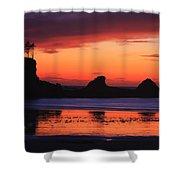Sunset Bay Sunset 2 Shower Curtain
