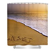 Sunset Beach Shower Curtain by Carlos Caetano