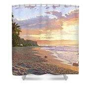 Sunset Beach - Oahu Shower Curtain