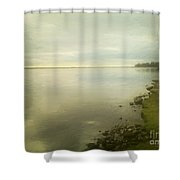 Sunset Before The Storm Shower Curtain