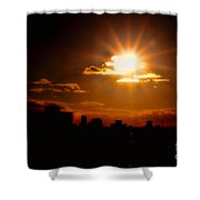Sunset Behind Ft. Lauderdale By Diana Sainz Shower Curtain