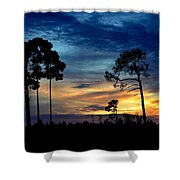 Sunset Behind The Trees Shower Curtain