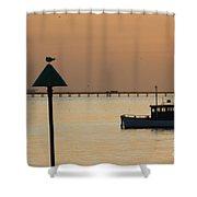 Sunset Blur Shower Curtain