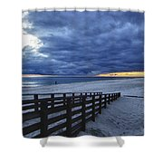 Sunset Boardwalk Shower Curtain by Michael Thomas