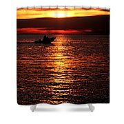 Sunset Boaters Shower Curtain