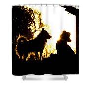 Sunset Buddies Shower Curtain