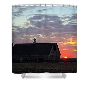 Sunset By The Barn 2 Shower Curtain