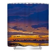Sunset By The Bay Shower Curtain