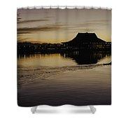 Sunset Canoe Shower Curtain